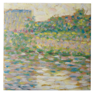 Georges Seurat - The Seine at Courbevoie Tile