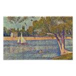 Georges Seurat - The Seine at CourbevoieGeorges Se Print