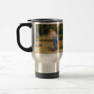 Georges Seurat- The Stone Breaker Mugs
