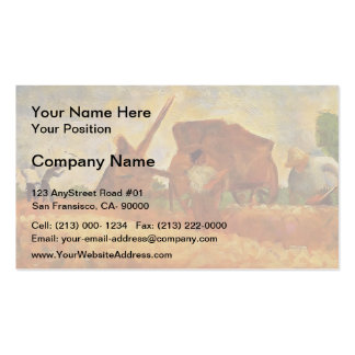 Georges Seurat- The Stone Breakers Business Card Templates