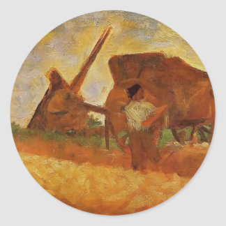 Georges Seurat- The Stone Breakers Stickers