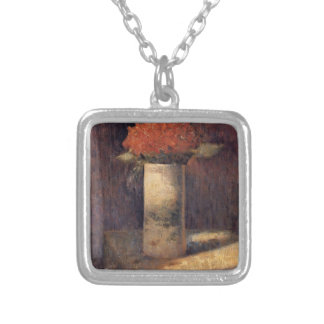 Georges Seurat- Vase of Flowers Personalized Necklace