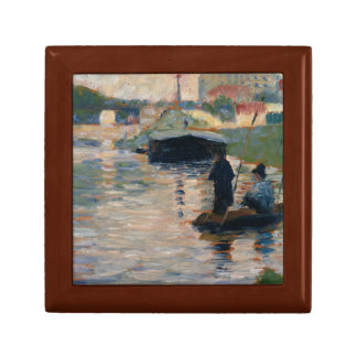 Georges Seurat - View of the Seine Jewelry Box