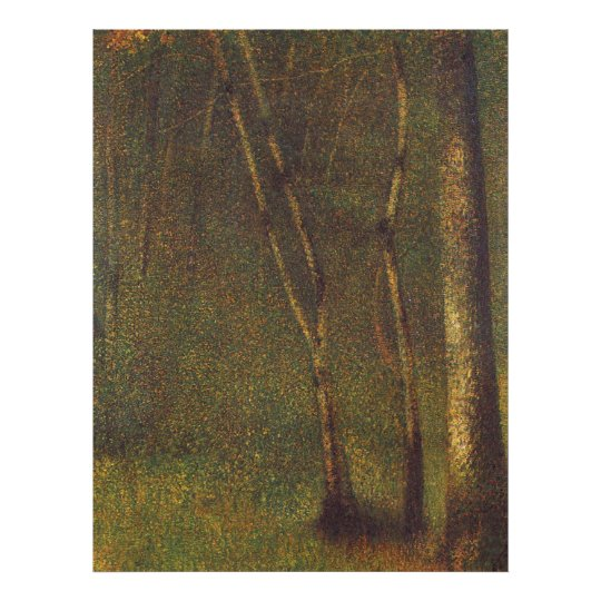 Georges Seurat's In the Woods at Pontaubert (1883) Poster