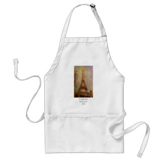 Georges Seurat's Painting: The Eiffel Tower (1889) Apron