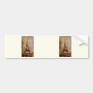 Georges Seurat's Painting: The Eiffel Tower (1889) Bumper Sticker