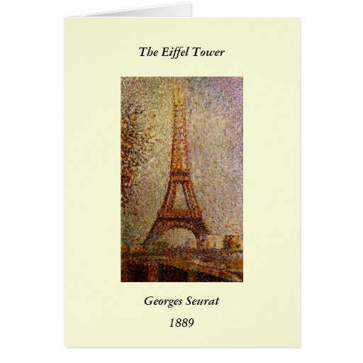 Georges Seurat's Painting: The Eiffel Tower (1889) Card