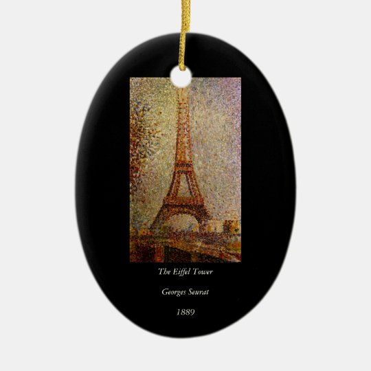Georges Seurat's Painting: The Eiffel Tower (1889) Ceramic Ornament