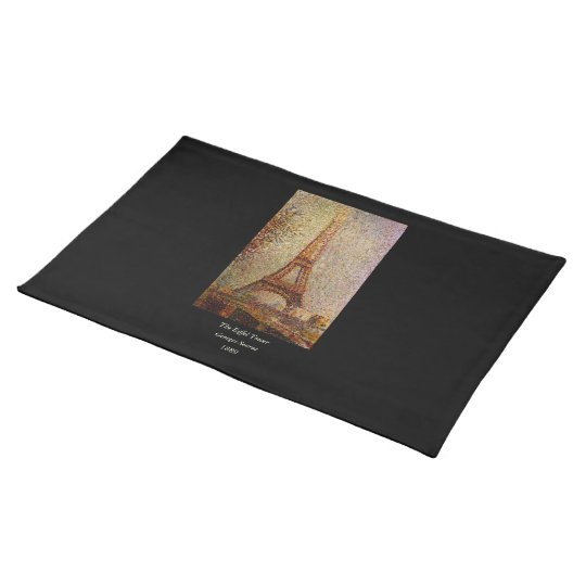 Georges Seurat's Painting: The Eiffel Tower (1889) Cloth Placemat