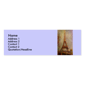 Georges Seurat's Painting: The Eiffel Tower (1889) Double-Sided Mini Business Cards (Pack Of 20)