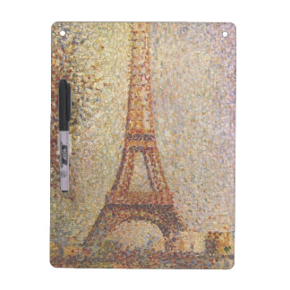 Georges Seurat's Painting: The Eiffel Tower (1889) Dry-Erase Board
