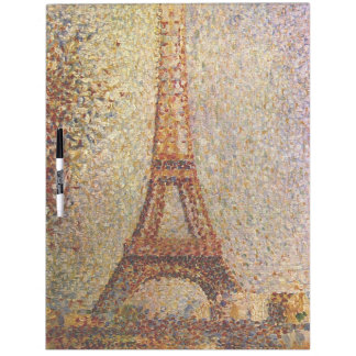 Georges Seurat's Painting: The Eiffel Tower (1889) Dry Erase Board