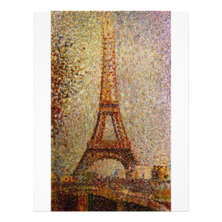 """Georges Seurat's Painting: The Eiffel Tower (1889) 8.5"""" X 11"""" Flyer"""