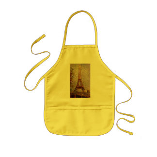 Georges Seurat's Painting: The Eiffel Tower (1889) Kids' Apron