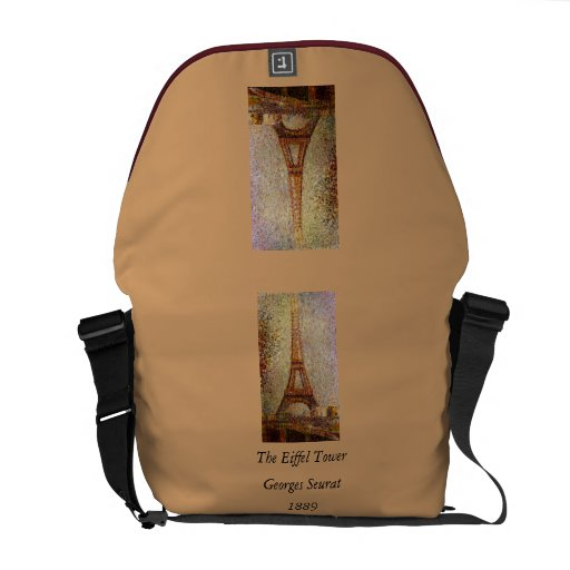 Georges Seurat's Painting: The Eiffel Tower (1889) Commuter Bags