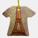 Georges Seurat's Painting: The Eiffel Tower (1889) Christmas Ornaments
