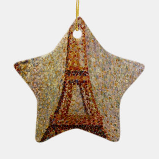 Georges Seurat's Painting: The Eiffel Tower (1889) Christmas Ornament