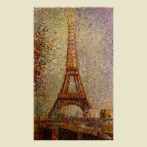 Georges Seurat's Painting: The Eiffel Tower