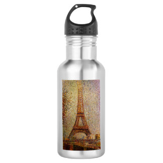 Georges Seurat's Painting: The Eiffel Tower (1889) Stainless Steel Water Bottle