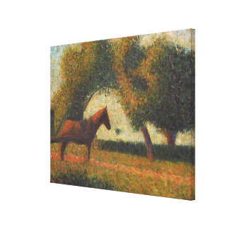 Georges Seurat's Painting: The Hitched Cart (1883) Canvas Print