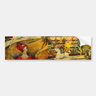 Georges Seurat's The Circus (1891) Bumper Sticker