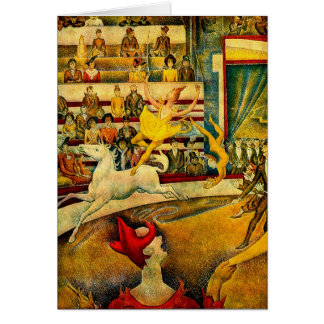 Georges Seurat's The Circus (1891) Greeting Card
