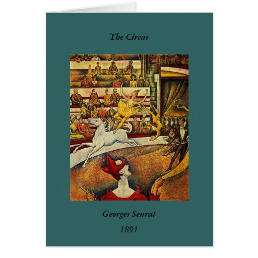 Georges Seurat's The Circus (1891) Cards