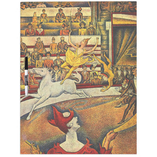 Georges Seurat's The Circus (1891) - Clown & Rider Dry Erase Whiteboards