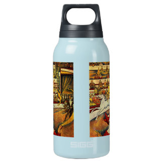 Georges Seurat's The Circus (1891) - Clown & Rider Insulated Water Bottle