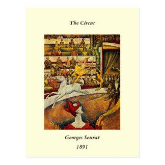 Georges Seurat's The Circus (1891) - Clown & Rider Postcard