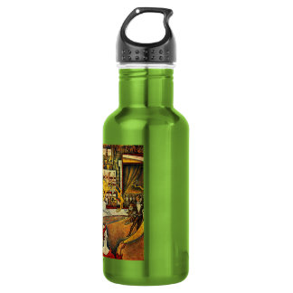 Georges Seurat's The Circus (1891) - Clown & Rider Stainless Steel Water Bottle