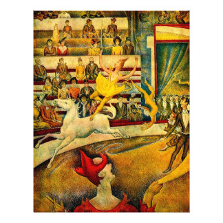 """Georges Seurat's The Circus (1891) 8.5"""" X 11"""" Flyer"""