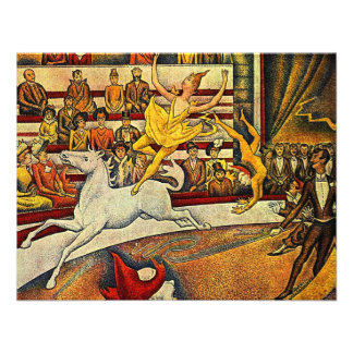 Georges Seurat's The Circus (1891) Personalized Announcement