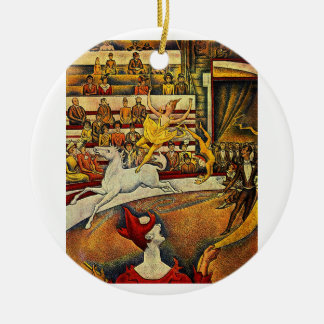 Georges Seurat's The Circus (1891) Christmas Tree Ornament