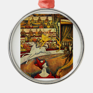 Georges Seurat's The Circus (1891) Christmas Tree Ornaments