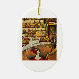 Georges Seurat's The Circus (1891) Christmas Ornament