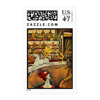 Georges Seurat's The Circus (1891) Postage