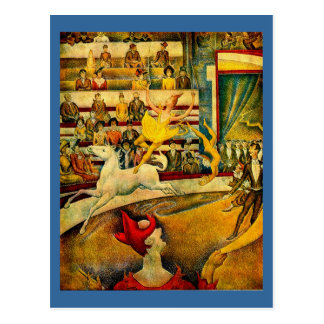 Georges Seurat's The Circus (1891) Postcard