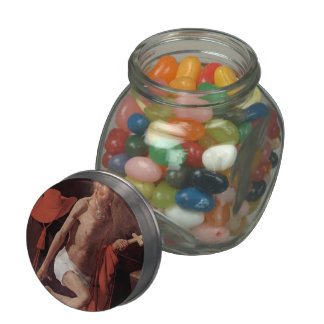 Georges Tour- Repenting of St. Jerome Glass Jar