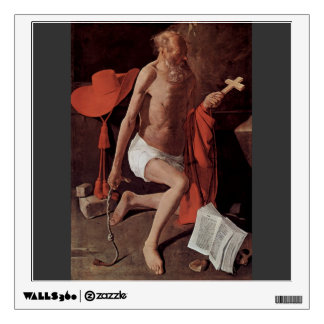 Georges Tour- Repenting of St Jerome Wall Stickers