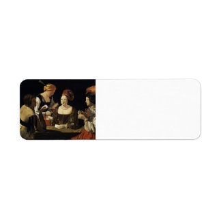 Georges Tour- The Cheat with the Ace of Diamonds Custom Return Address Label