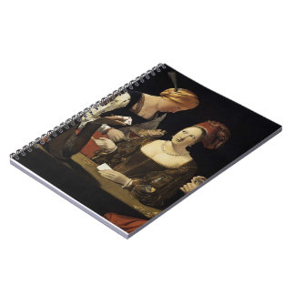 Georges Tour- The Cheat with the Ace of Diamonds Spiral Notebooks