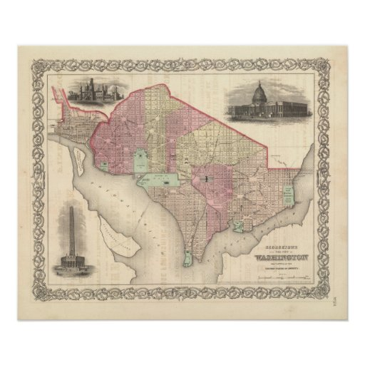 Georgetown and the City of Washington Print