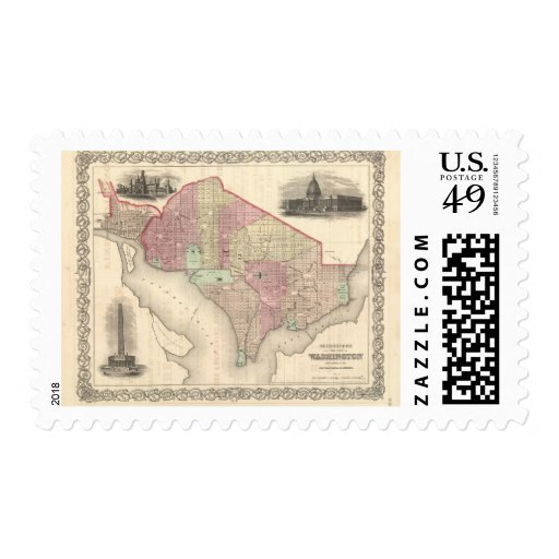 Georgetown and the City of Washington Stamp