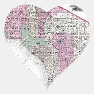 Georgetown and Washington DC Heart Sticker