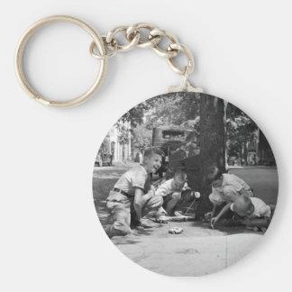 Georgetown Boys, 1930s Basic Round Button Keychain