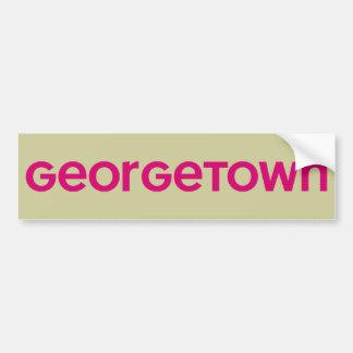 Georgetown Pegatina De Parachoque