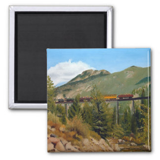 Georgetown Colorado Railroad Landscape Oil Paintin Refrigerator Magnet