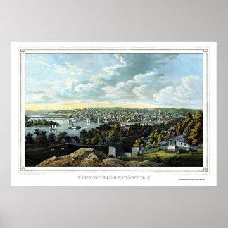 Georgetown, D.C. Panoramic Map - 1855 Posters