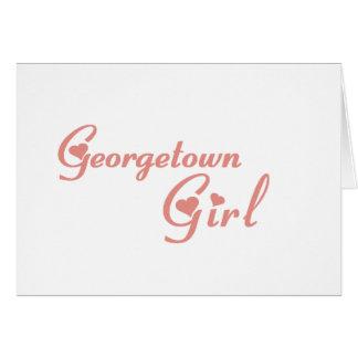 Georgetown Girl tee shirts Greeting Card